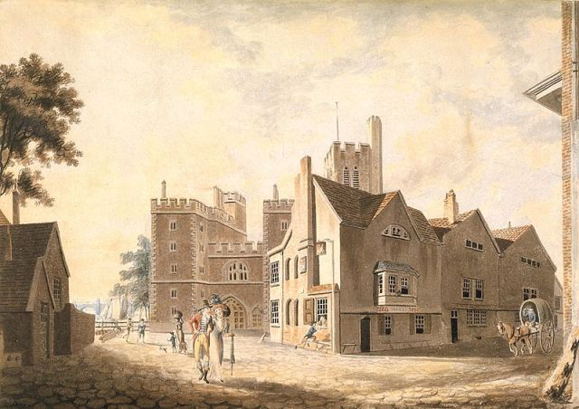 A View of the Archbishop's Palace in Lambeth