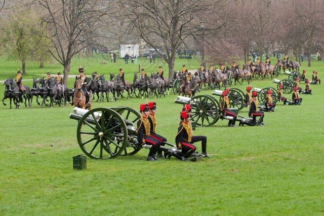 41 Gun Salute for Her Majesty's Birthday