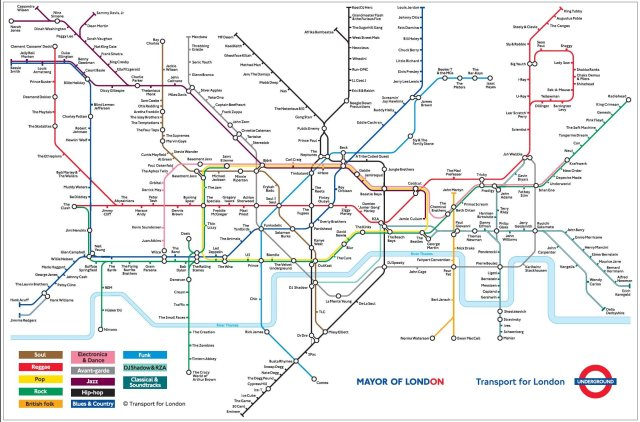 London Tube map re-imagined in a musical form.