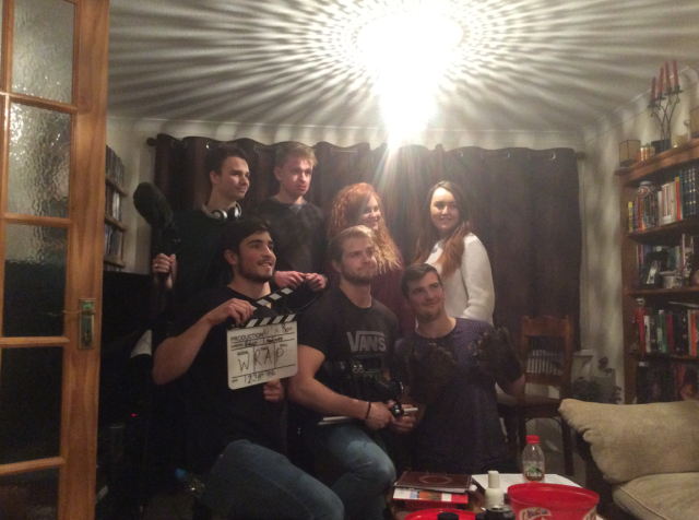 It's a wrap! The behind the scenes crew of Not Now Bernard!