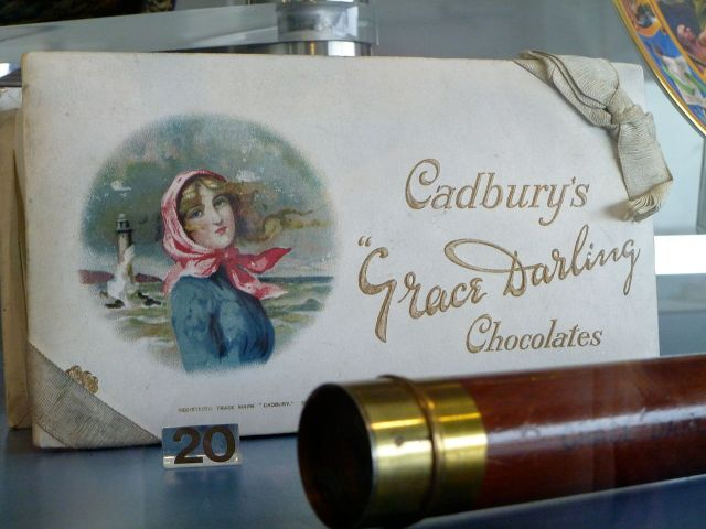 Cadburys commemorated Grace's heroism on their chocolate wrapping.