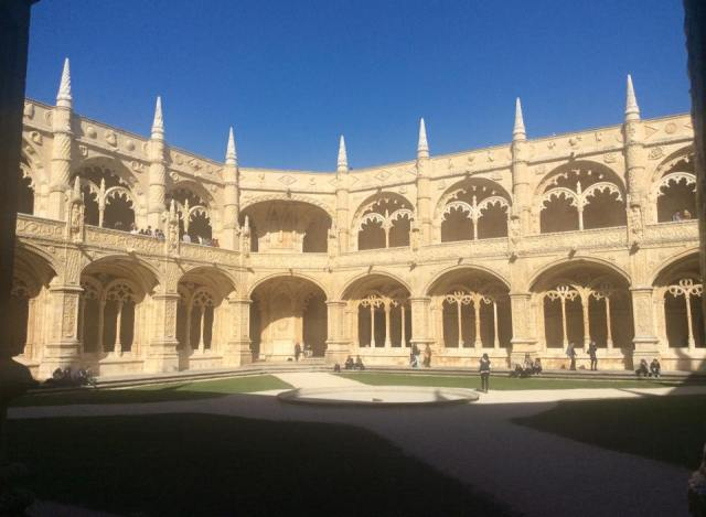 The cloisters at Jeronimos