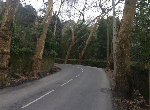 The road out of Sintra