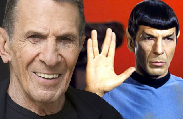 Leonard Nimoy & a young Mr. Spock.