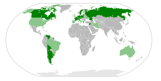 Nations that recognise the Armenian Genocide