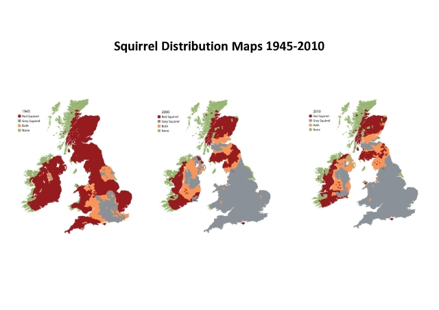 Map of Red Squirrels in the U.K.