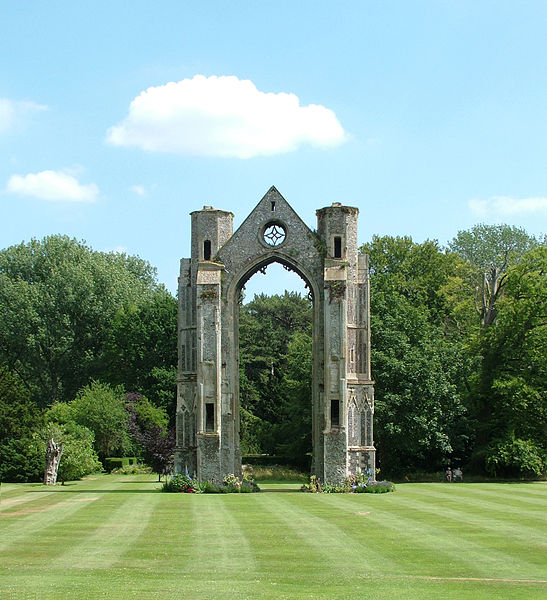 The ruined Archway of old Walsingham Abbey by David P Orman