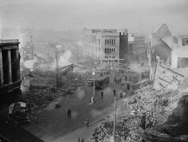 Coventry after it was wiped off the map by the Luftwaffe.
