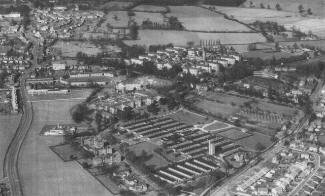 Leavesden Asylum from the air