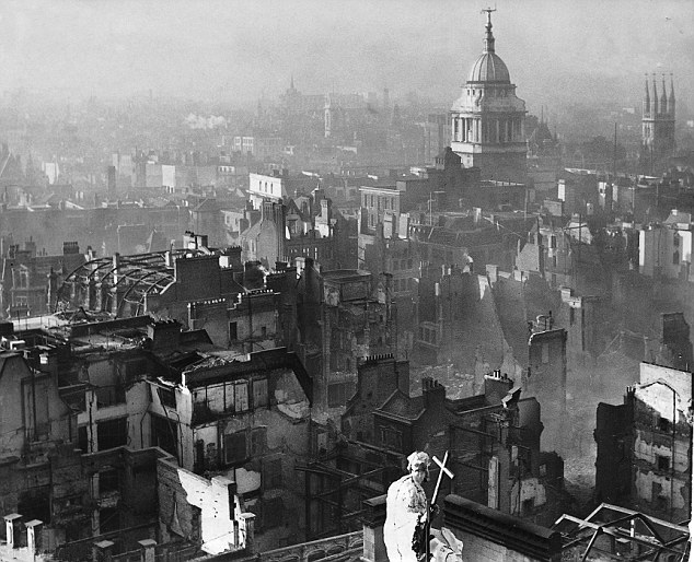 View from St. Paul's Cathedral after The Blitz.