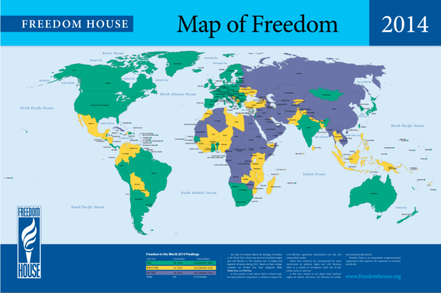 Map of World Freedom 2014