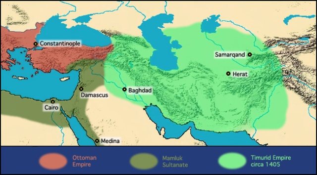 The Timurid Empire around 1405 AD