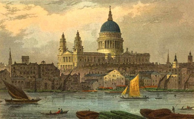 St_Paul's_by_Thomas_Hosmer_Shepherd_(early_19th_century)