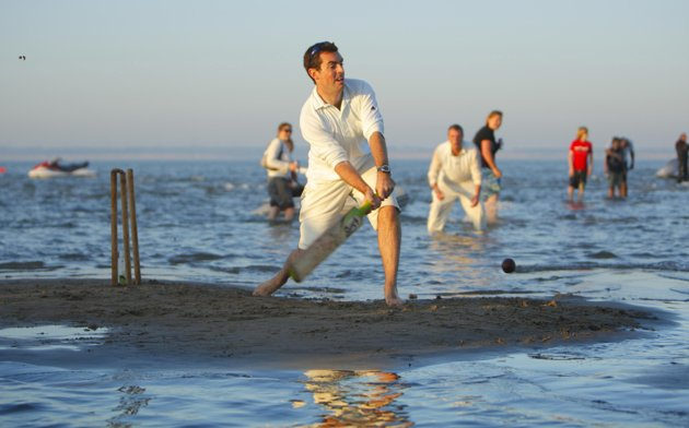 Cricket in the sea