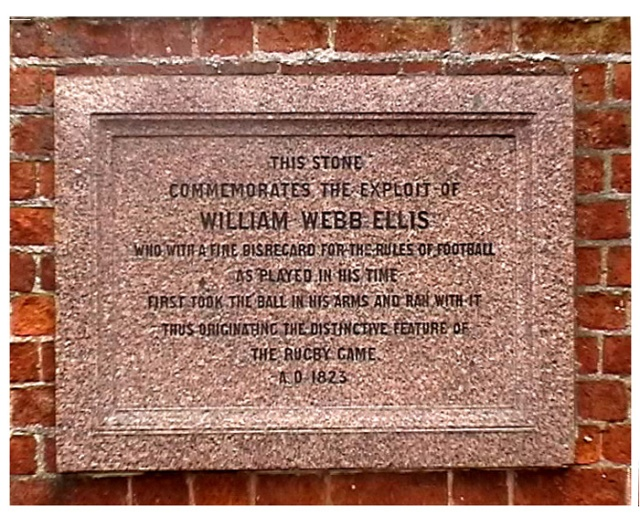 William Webb Ellis plaque