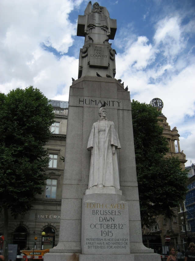 Edith Cavell Memorial in St Martins Place, London.