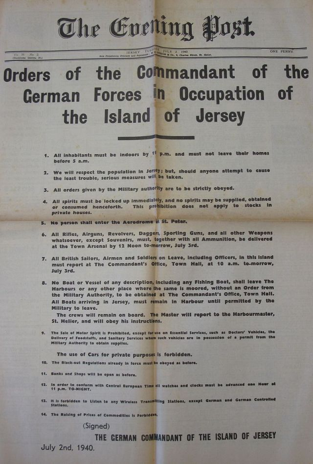 The Orders of The German Commandant.