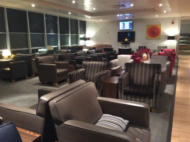 No one else around at the BA lounge at Gatwick