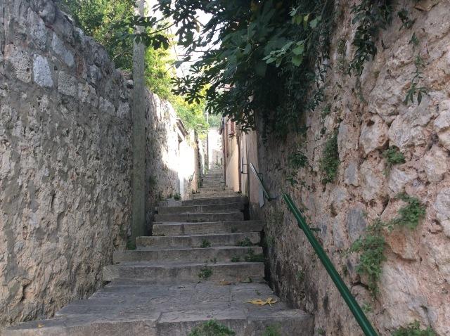 steep steps in Dubrovnik