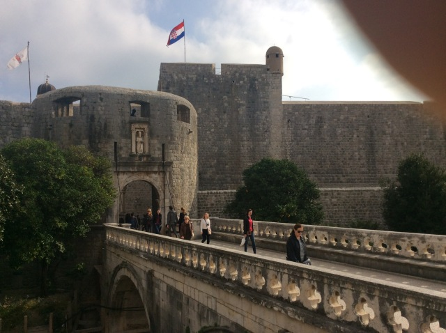 Pile Gate, the main entrance to Dubrovnik.... and Kings Landing