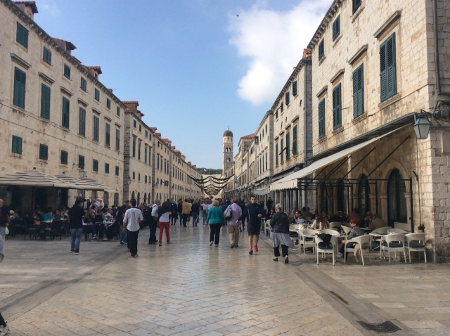 Placa Stradum is the main street in old Dubrovnik, lined with a very polished white marble it is entirely breathtaking.