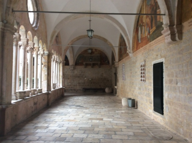 Inside the Dominican monastery  at Dubrovnik