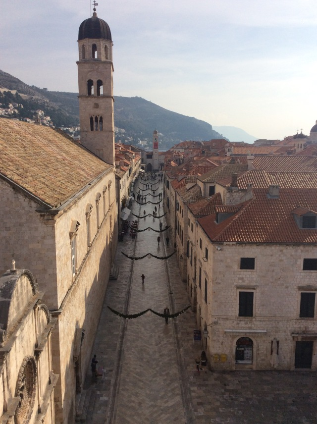 Looking down the  main street of Dubrovnik
