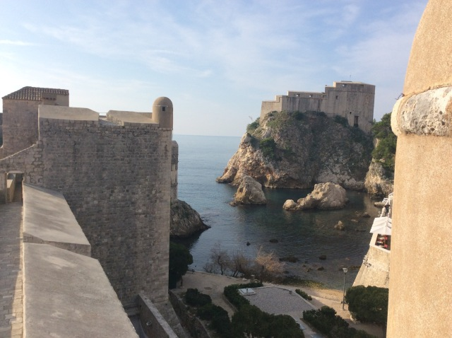 Lovrijenac Fortress, an imposing castle protecting western Dubrovnik. Also home of the dastardly King Joffrey in Game of Thrones