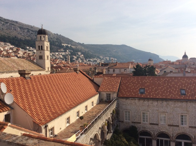 Beautiful red roofs of Dubrovnik
