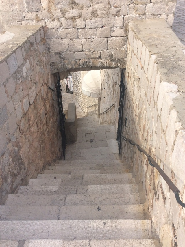 Soooo many steps in Dubrovnik and I have these bad boys all to myself.