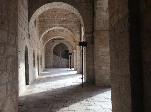 Inside Joffreys stronghold.