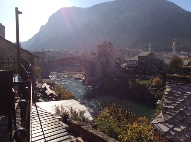 The view of Mostar as i ate