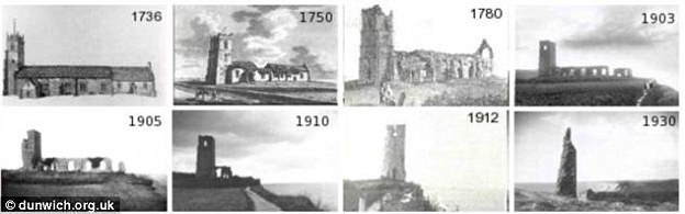 The fall of the final medieval Dunwich Church