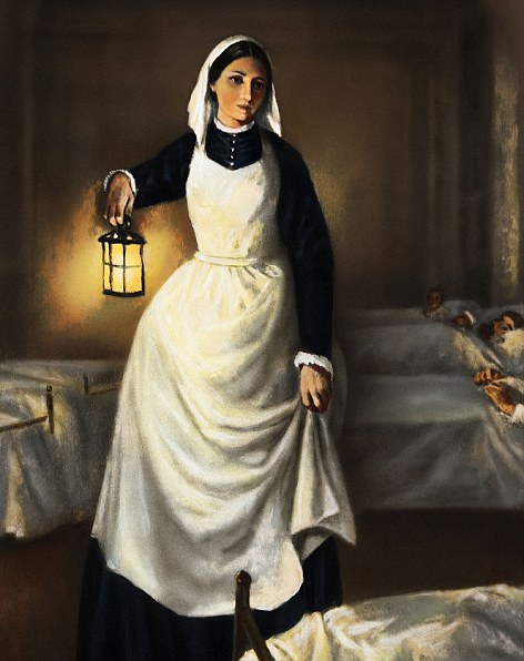 Lady with the lamp- Florence Nightingale (1820-1910).