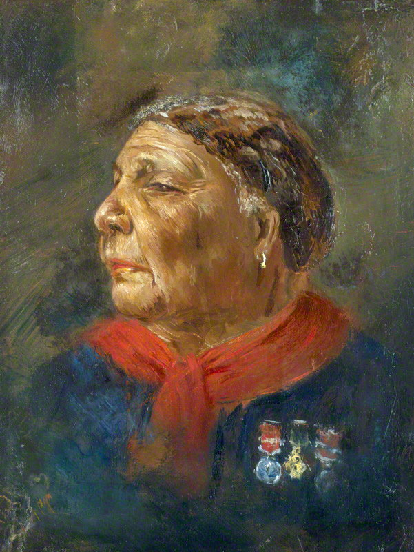 Painting of Mary Seacole in later life by Albert Charles Challen, oil on panel, 1869.
