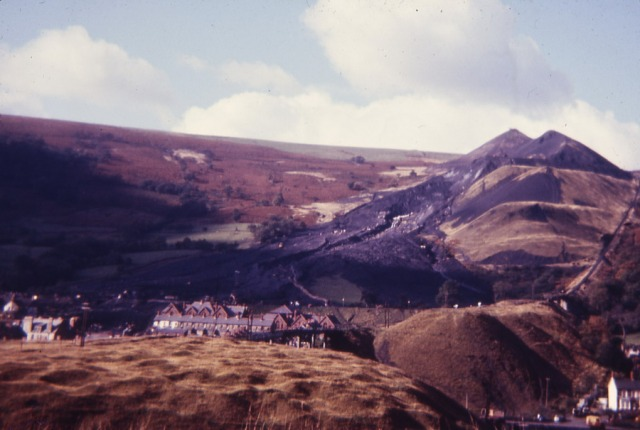 150,000 tonnes of coal and spoil rumbled down the hillside on October 21st 1966 at Aberfan.