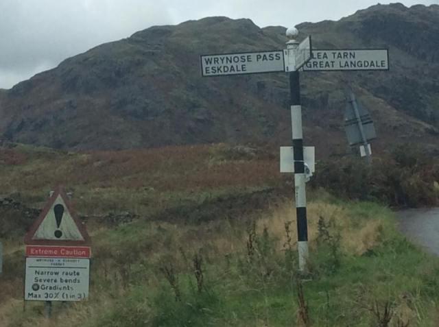 EXTREME CAUTION! The road less travelled - Wrynose Pass and then on to Hardknott Pass.