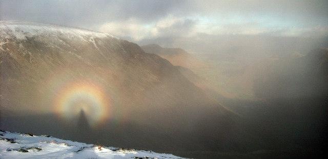 This Brockenspectre was actually captured on a neighbouring mountain to Skiddaw. (Credit to Simnel)