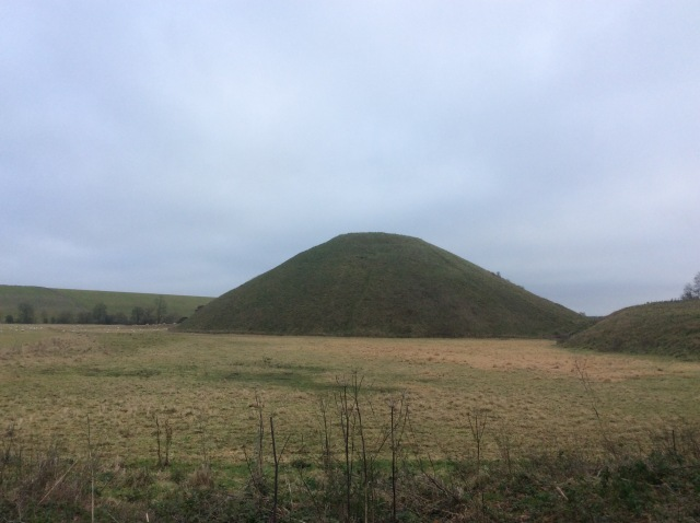 Silbury Hill, the tallest prehistoric man made mound in the world. So tall that there was once a fortress on it a thousand or two years ago.