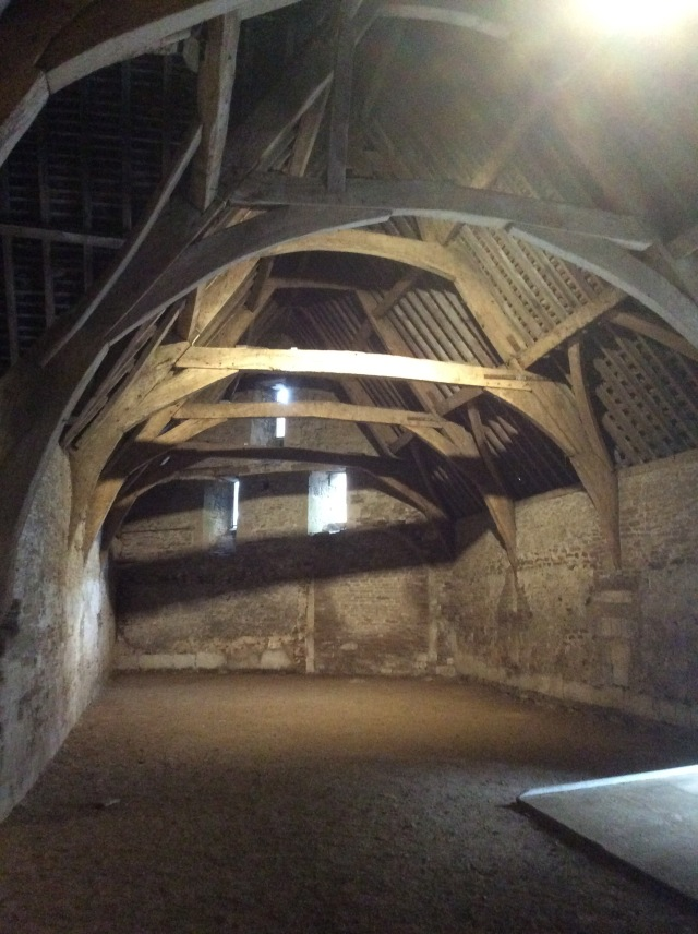 Inside Lacock Tithe barn, 7-800 years old if it is a day.