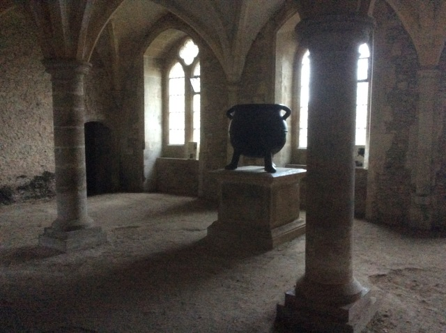 The Nuns of Lacock Abbey used to keep warm in the winter here and no doubt used their big cauldron.