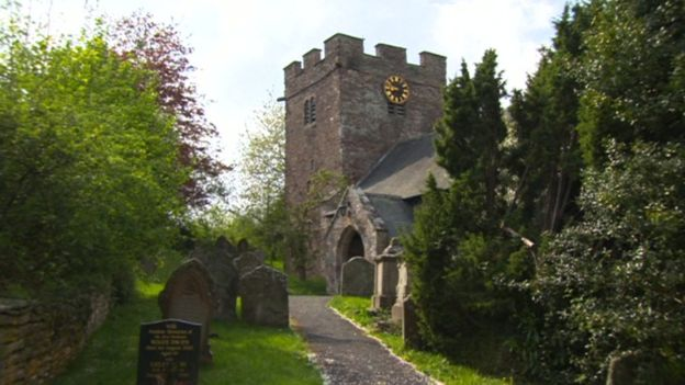 St Faith's Church in Bacton, Herefordshire.