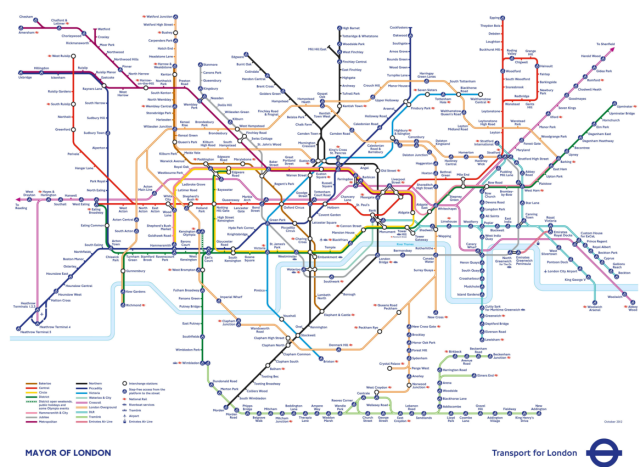 The upcoming London Underground Map with the new Elizabeth Line added!