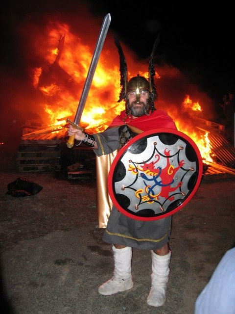 Guizer Jarl at Norwick Up Helly Aa