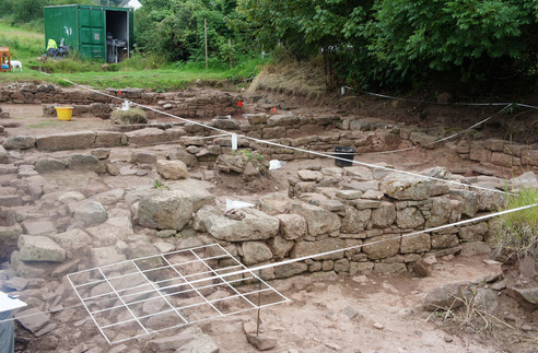 A small part of Trellech uncovered.