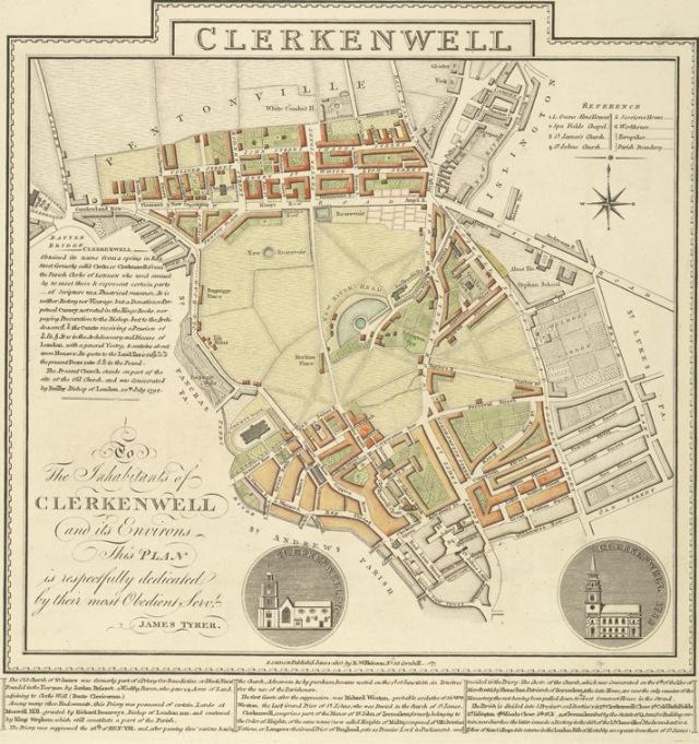 Clerkenwell_1805_Cartographer;_Tyrer,_James