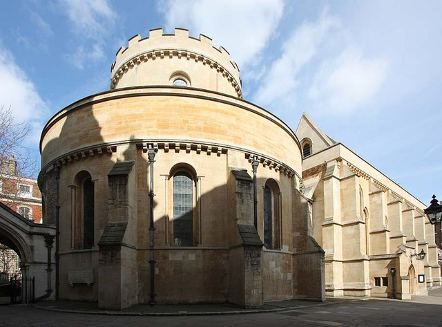 Temple Church in London.... suspiciously circular in design, almost as if it was inspired by ancient churches in Jerusalem!  Photo by John Salmon.