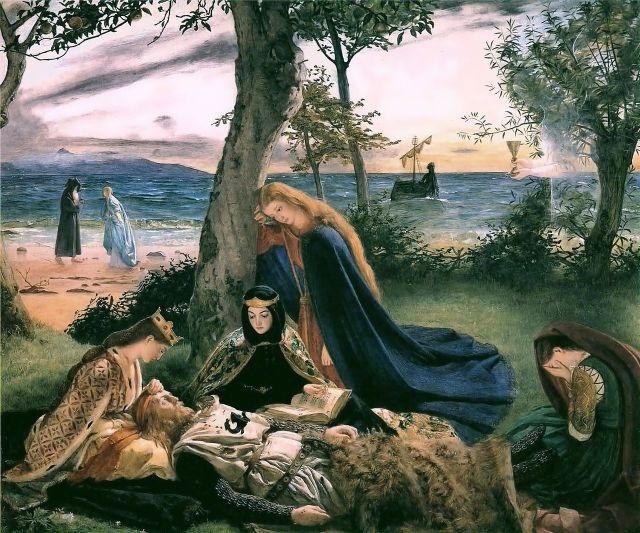 The Death of King Arthur by James Archer (1860)