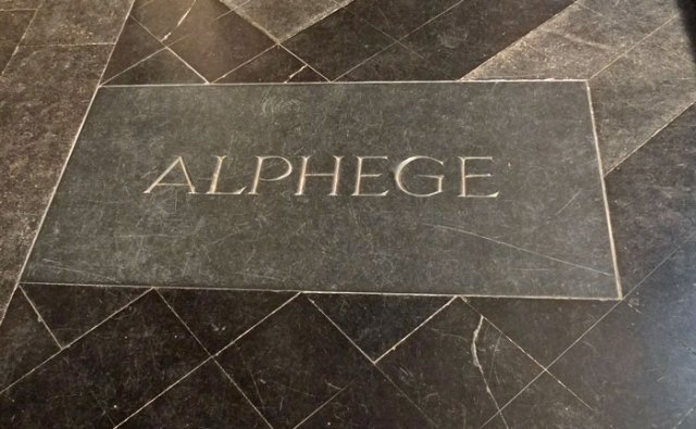 The final resting place of Saint Æthelred in Canterbury Cathedral