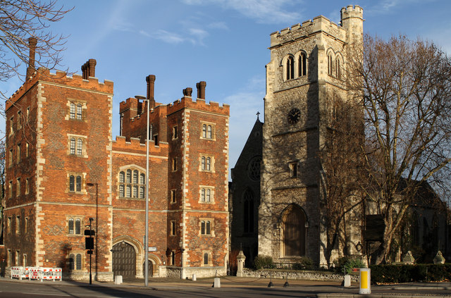 Lambeth Palace and the church of St Mary At Lambeth